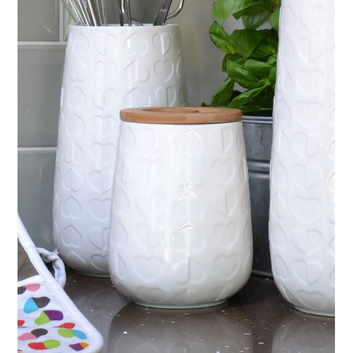 Beau & Elliot Confetti Embossed Storage Jar, 15cm