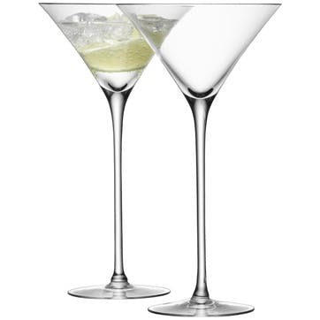 LSA Bar Cocktail Glass, 275ml, Set of 2