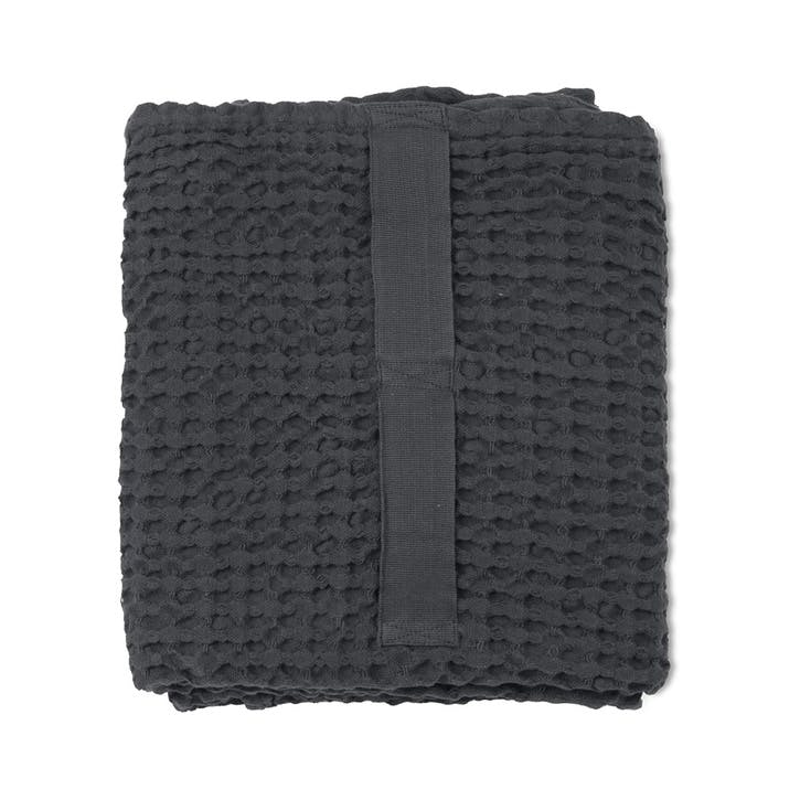 Waffle Bath Towel, L150 x W50cm, Dark Grey