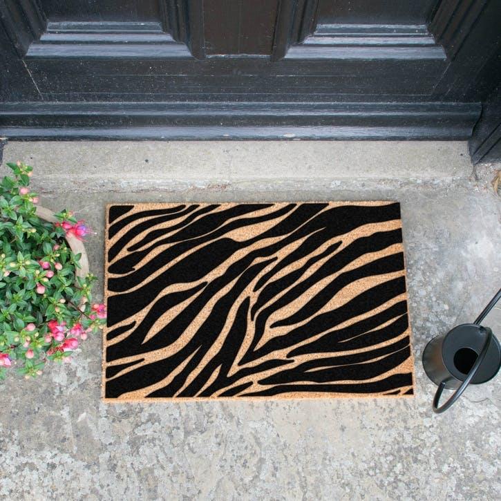 Zebra Print Doormat