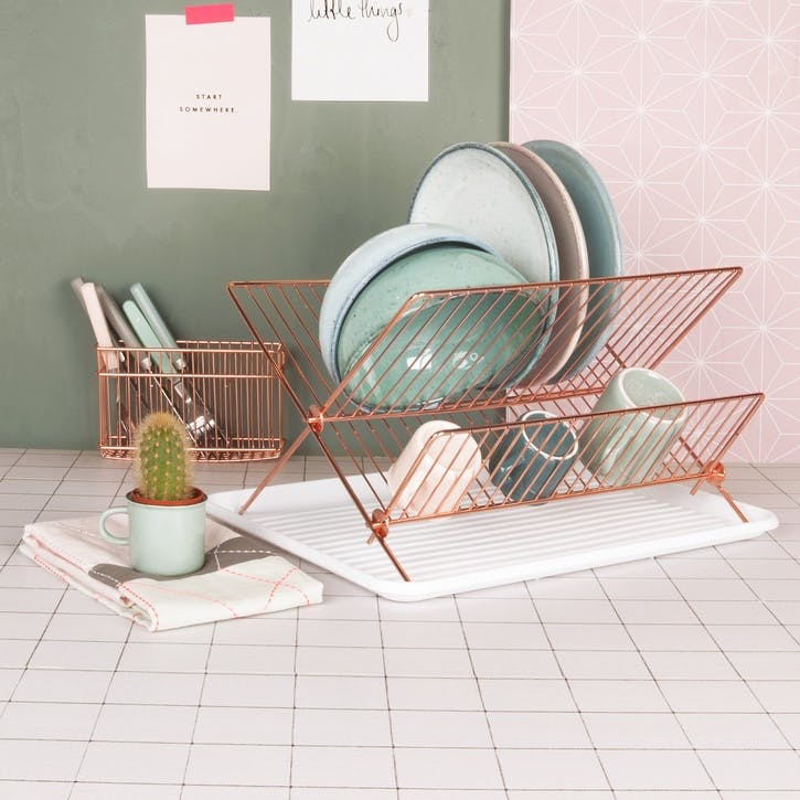 Dish Rack, Copper