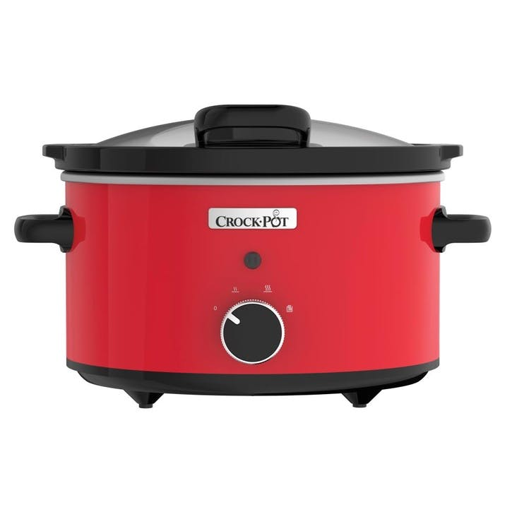 Stoneware Slow Cooker - 3.5L; Red