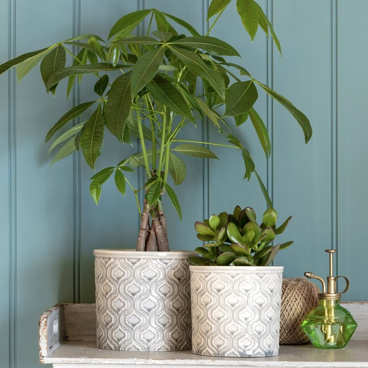 Venetian Glazed Plant Pot; Large