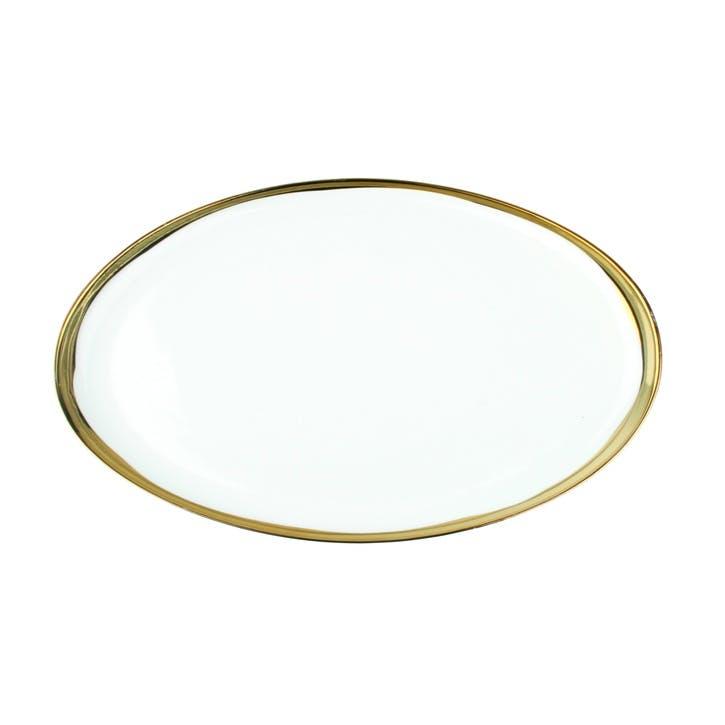Dauville Rim Platter, Gold