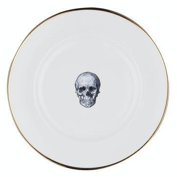Rock and Roll Skull Dinner Plate