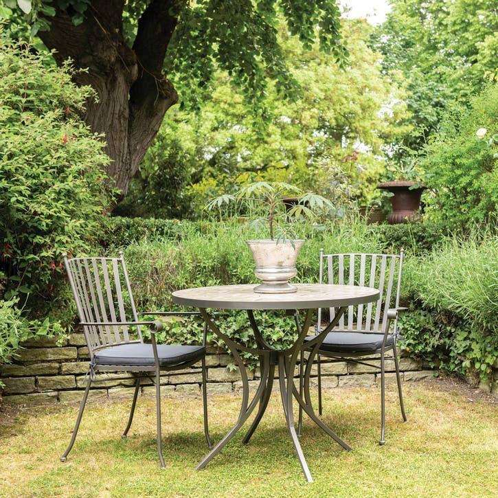 Penzance Mosaic Outdoor Table, Cream