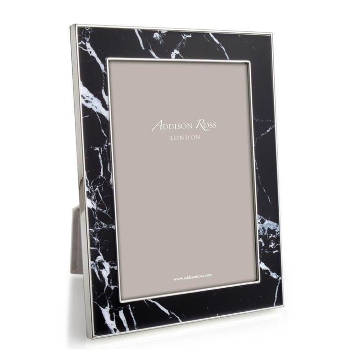 "Marble Photo Frame - 5"" x 7""; Black"