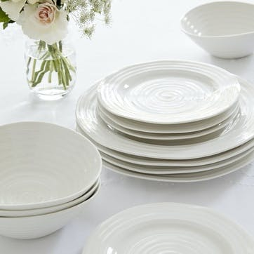 Dinner Plates, Set of 4 - 11 Inches; White