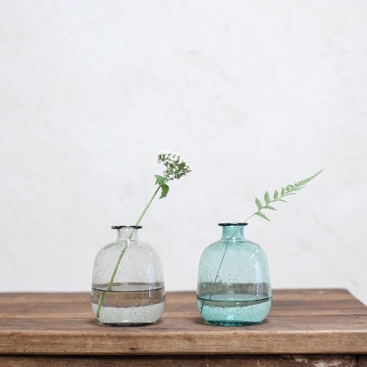Toska Glass Bottle; Teal