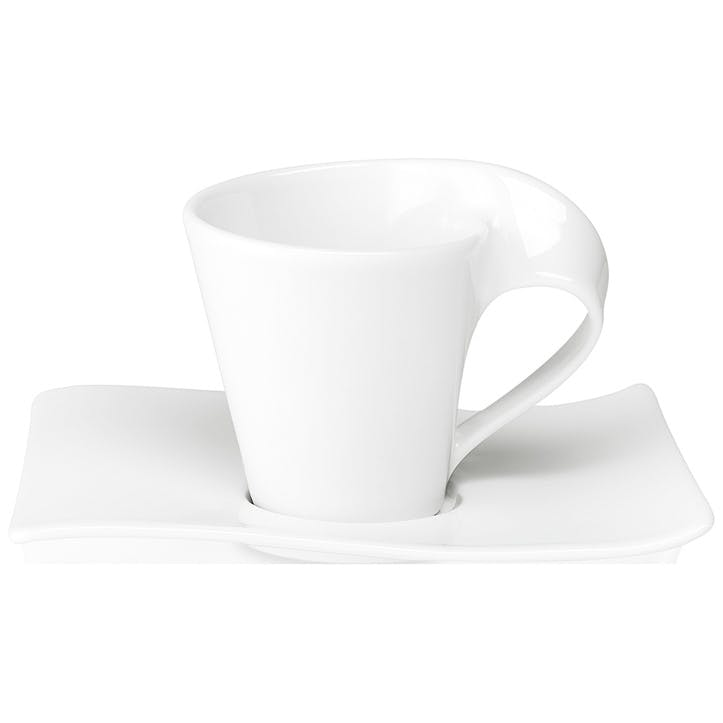 NewWave Coffee Cup & Saucer White