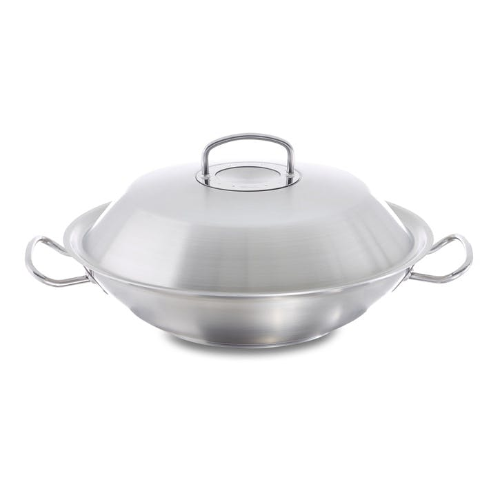 Original Pro Collection Wok With Lid and Draining Rack, 35cm