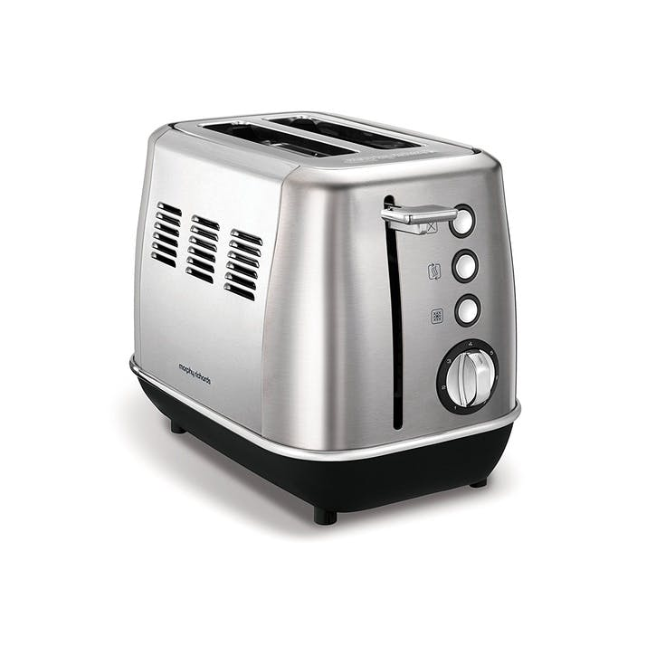 Evoke 2 Slice Toaster; Brushed Steel