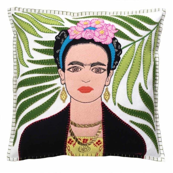 Frida Kahlo Cushion, Cream