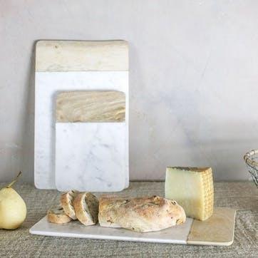 Bwari Long Marble Board - Large; White