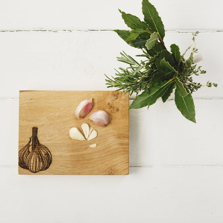Garlic Oak Chopping Board