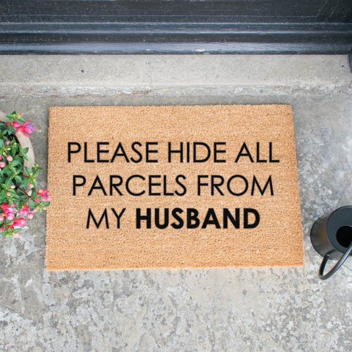 Please Hide All Parcels Doormat