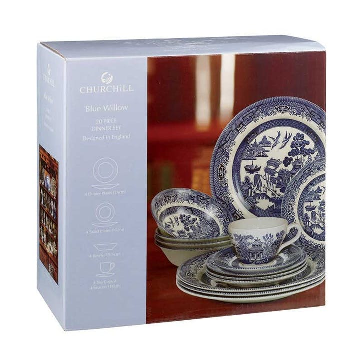 Blue Willow 20 Piece Set