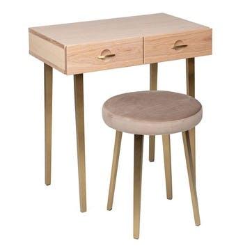 Crawford Dressing Table Stool Light Oak
