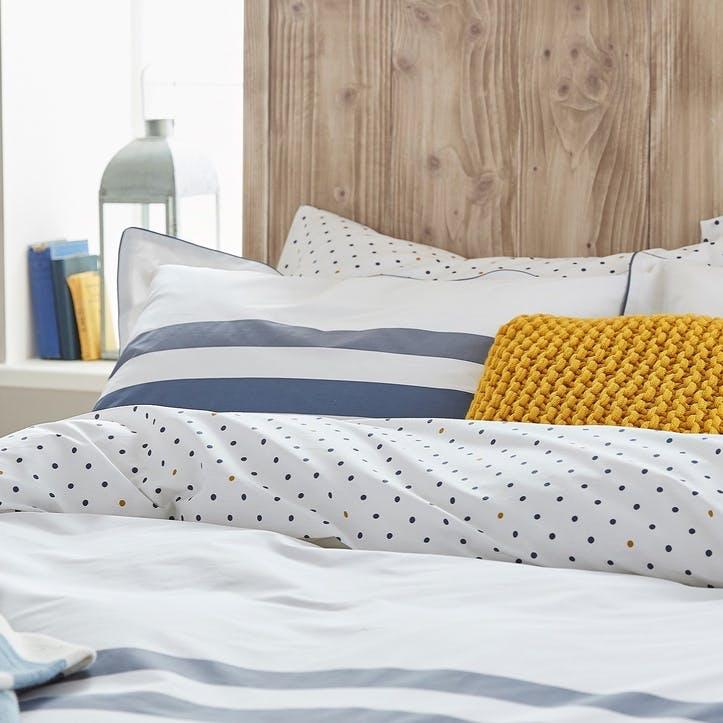 Galley Grade Stripe Oxford Pillowcase, Comet