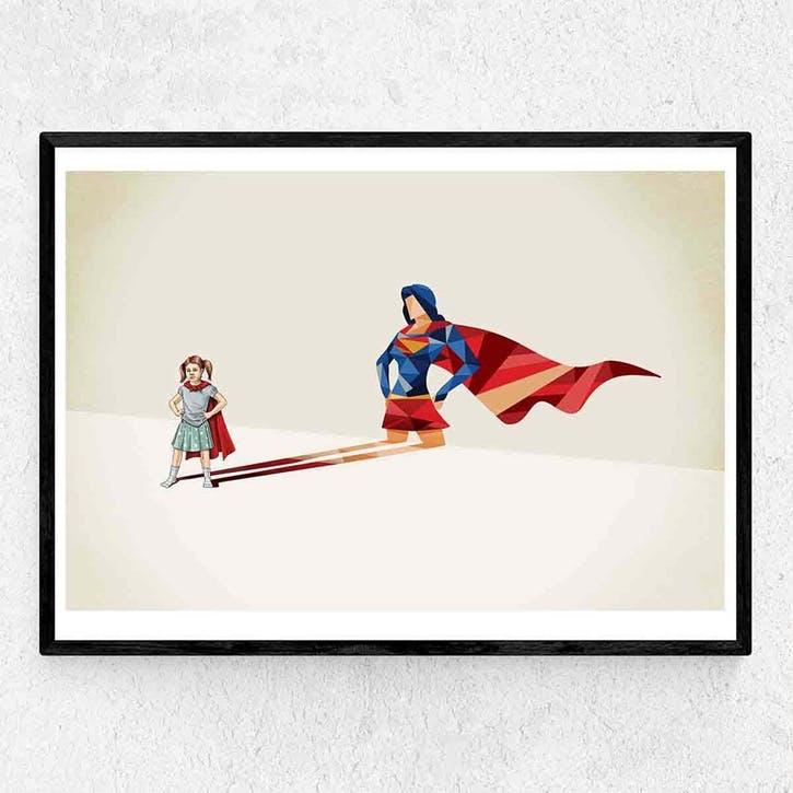 Jason Ratliff, Heroine, Framed Art Print, H44 x W37 x D2cm, Black
