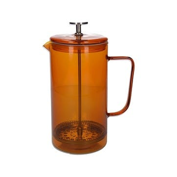 Glass Cafetiere, 8 Cup, Amber