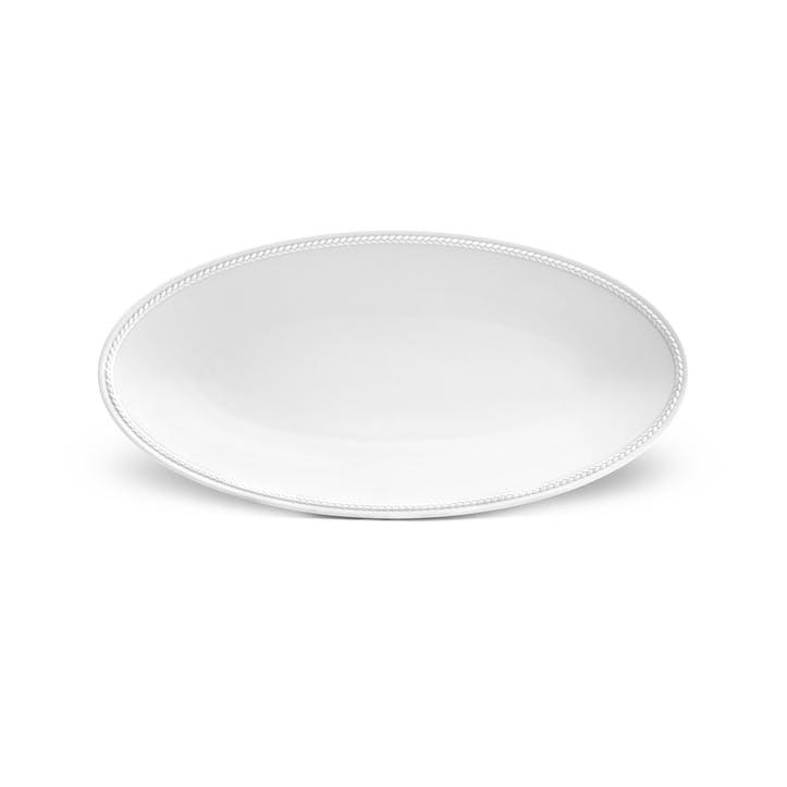 Soie Tressée Oval Platter, White