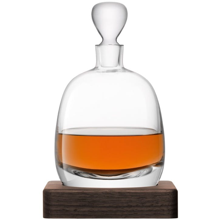 LSA Islay Decanter 1L & Walnut Base