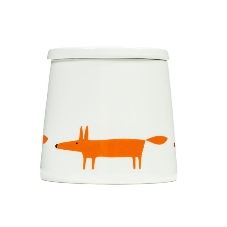 Mr Fox Storage Jar, Ceramic & Orange