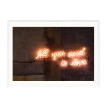Honeymoon Hotel, All You Need Is Love Framed Art Print
