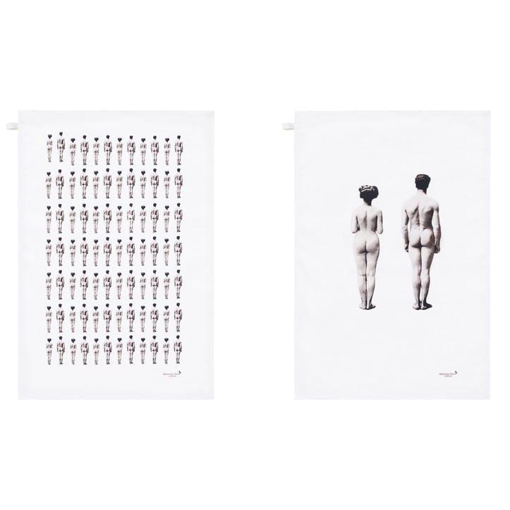 Modern Surrealist The Models Tea Towels, Set of 2