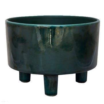 Pisa, Bowl Planter, H14 X W19 X D19cm, Emerald