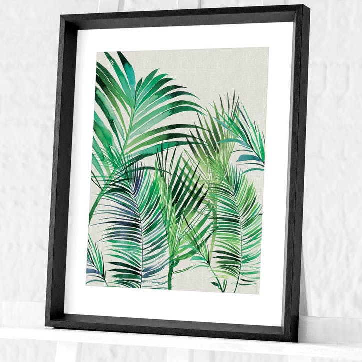 Summer Thornton Palm Leaves Framed Print, 55 x 45cm