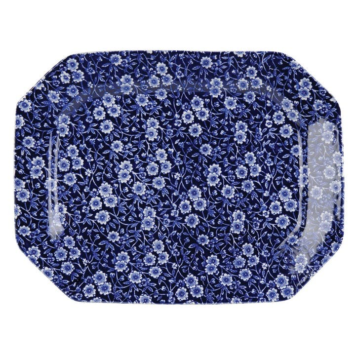 Calico Rectangular Dish, 34cm, Blue