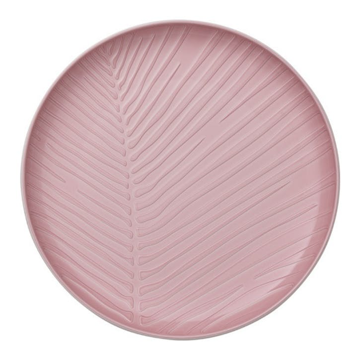 It's My Match Leaf Dinner Plate, Pink
