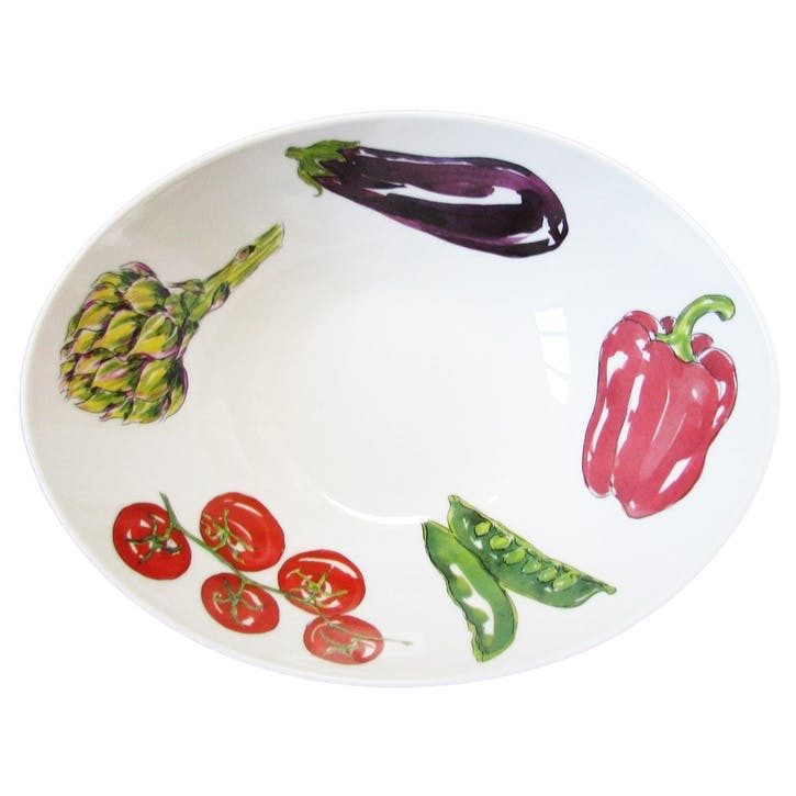 Vegetables Oval Bowl - 27cm