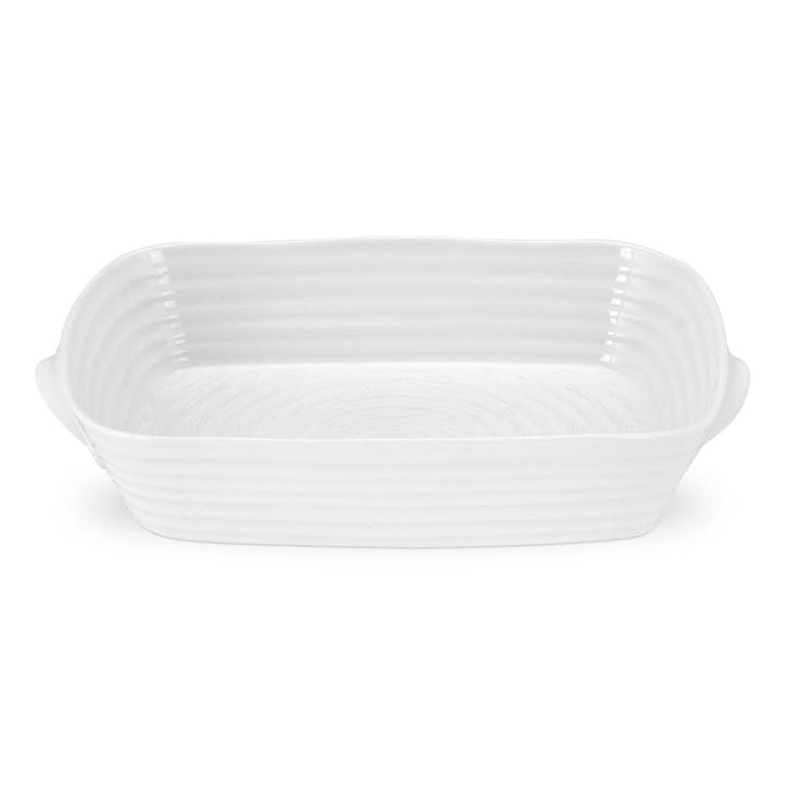 Handled Roasting Dish - Medium; White