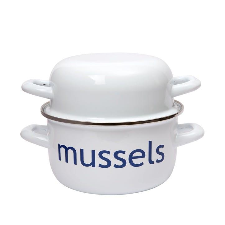 Enamelled Steel Mussel Pot