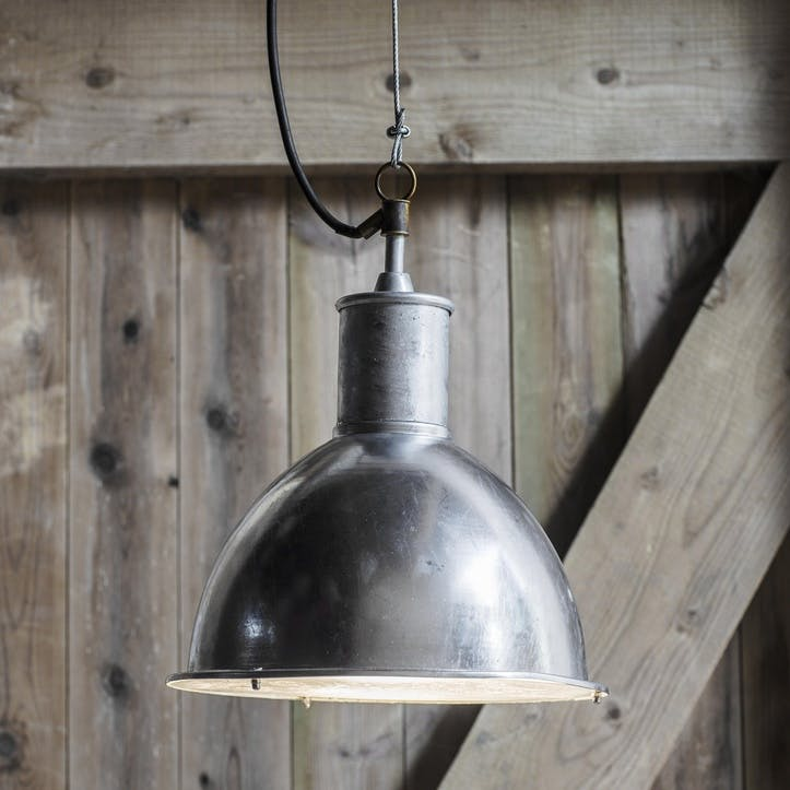 St Ives Bay Outdoor Pendant Light, Galvanised Steel