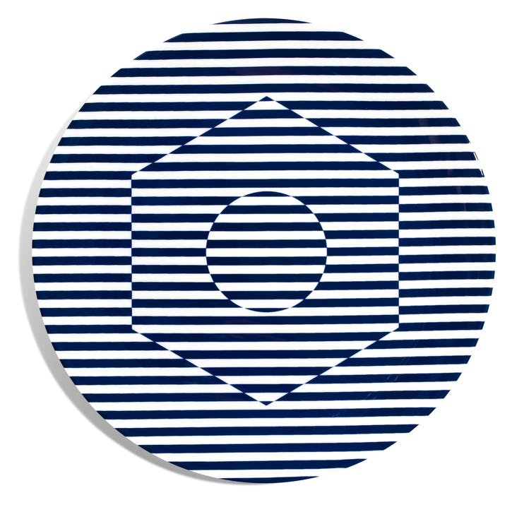 Superstripe Coupe Dinner Plate