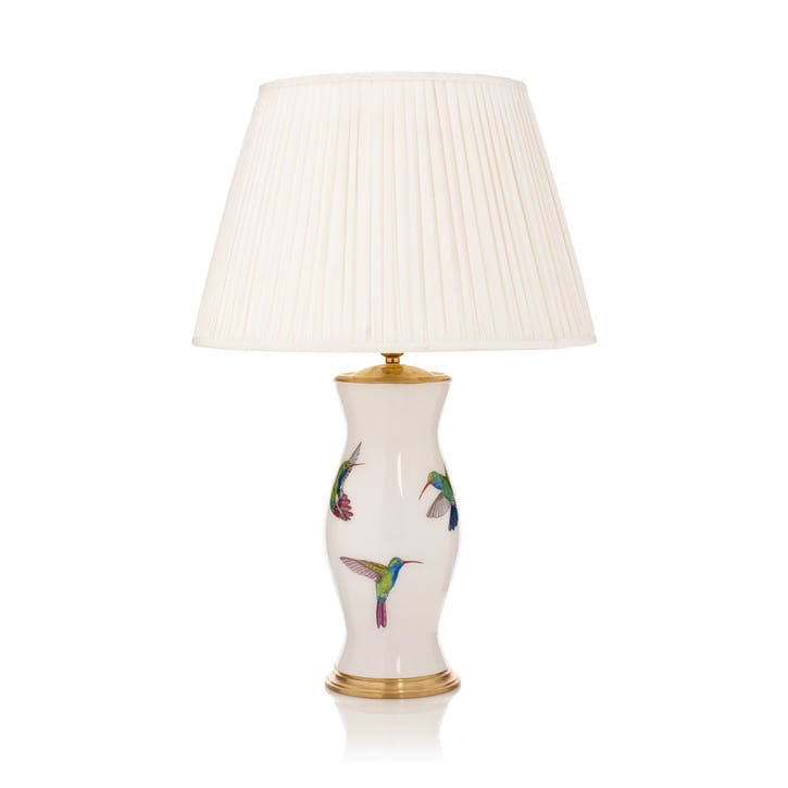 'Come Fly With Me' Hummingbird Lamp Base, Ivory