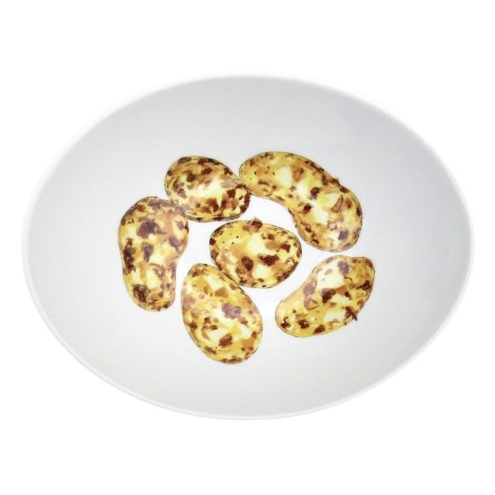 Jersey Royal Potatoes Oval Bowl - 18cm