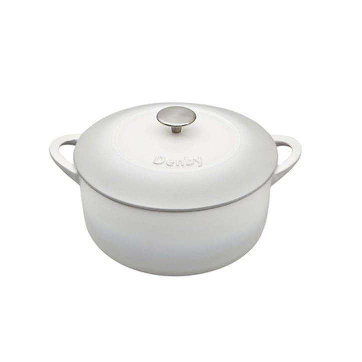 Cast Iron Natural Canvas Round Casserole Dish, 24cm