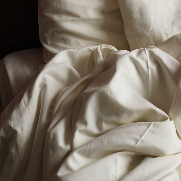 Linen & Bamboo Blend Duvet Cover, Double, Oyster White