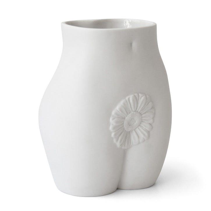Muse, Edie Vase, White, H23 x W18cm