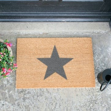 Artsy Star Doormat, Grey