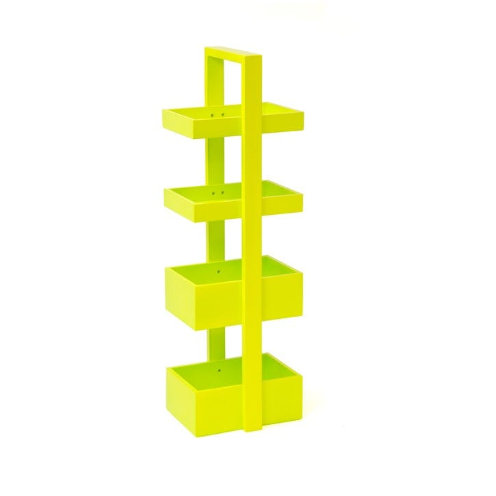 Brights Mount Fuji 4 Tray Caddy, Lime Gloss