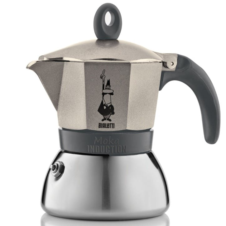 Moka Induction Stovetop Coffee Maker - 3 Cup; Gold