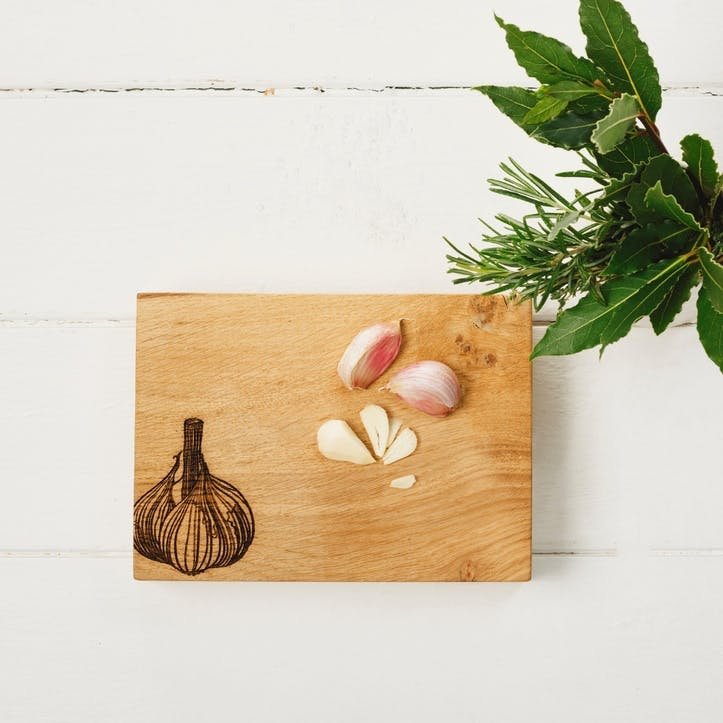 Garlic Print Chopping Board