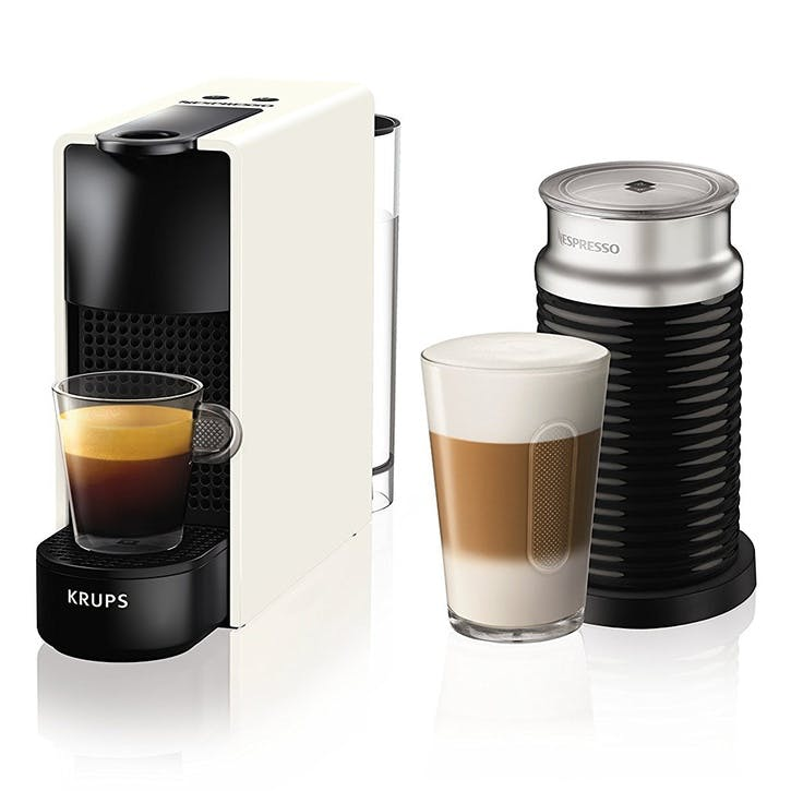 Essenza Mini Coffee Machine with Milk Frother, White