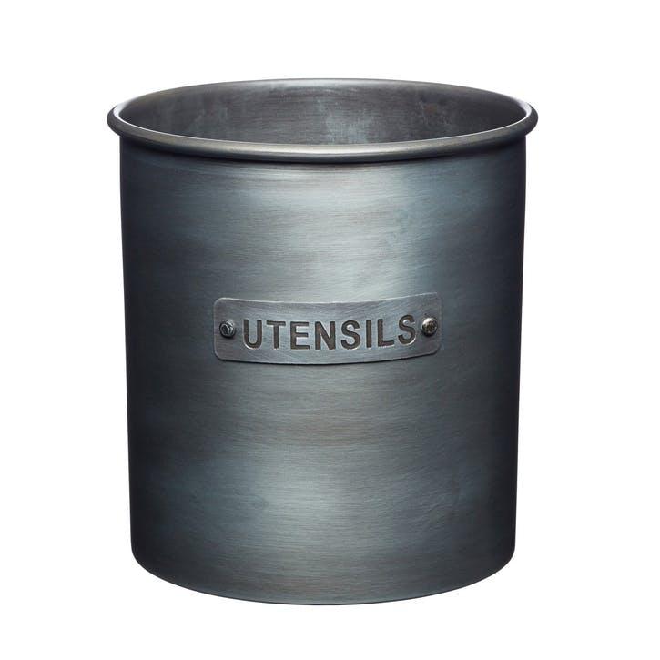 Industrial Kitchen Vintage-Style Metal Utensil Holder